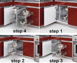 Kitchen Corner Base Cabinets Revashelf Blind Corner Pullout Organizer For Kitchen Blind Base