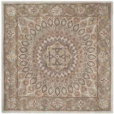 safavieh heritage blue traditional rug square 10