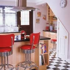 Red kitchen bar stools