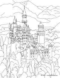 Small Picture Neuschwanstein castle coloring pages Hellokidscom