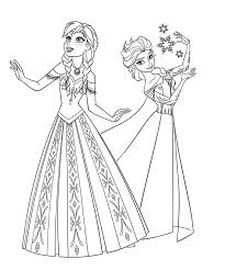 Small Picture Frozen Coloring Pages Anna And Elsa coloring page