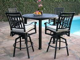 Outdoor Table Set Heaven Cast Aluminum 5 Piece Bar Chairs On Sale
