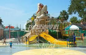 crocodile type children fun play fiberglass water slides for spray park equipment