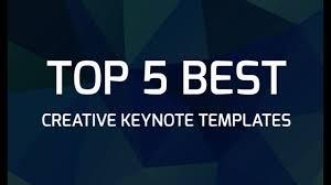 Best Keynote Templates Top 5 Best Creative Keynote Templates