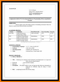 Resume In Word Format For Freshers Professional Resumes Example