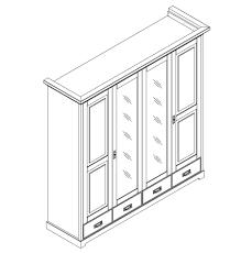 Massivholz Schlafzimmer Komplett Set Kiefer Massiv Holz Weiß