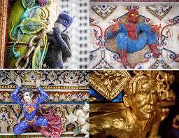 Chùa Thái Lan tạc tượng siêu anh hùng phương Tây và... chuột Mickey | Văn  hóa