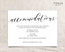 Invitation Information Template Accommodation Cards For Wedding Invitations Template Ninja 2