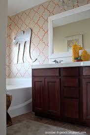 Coral Bathroom Decor Master Bathroom Makeover Coral And Yellow No 2 Pencil