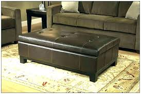 dark brown leather ottoman brown leather ottoman coffee table brown leather coffee table rectangular cocktail ottoman