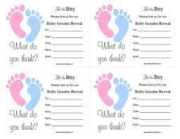 Baby Gender Reveal Invitations Free Printable