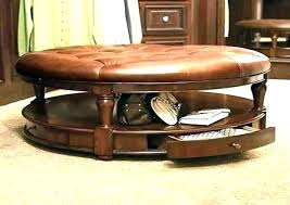 round faux leather ottoman faux leather ottoman coffee table coffee table leather ottoman storage ottoman coffee