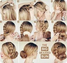 easy bun hairstyles for summer the big braided bun tutorial