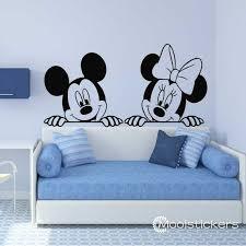 cartoon mickey and minnie mouse wall