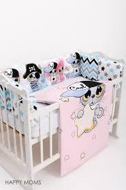 <b>Комплект</b> в кроватку 14 <b>предметов с</b> котенком Happy Moms