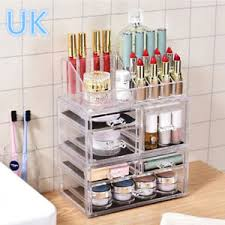 image is loading 6 drawers beautify clear acrylic cosmetic makeup display