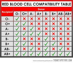 Abo Blood Compatibility Chart Blood Type Chart Facts And Information On Blood Group Types