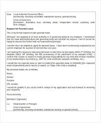 Leave Of Absence Letter Templates Vacation Sick