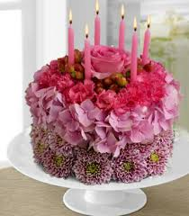 Birthday Cake Cake Made 100 With Fresh Flowers In Thornton On