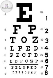Eye Doctor Eye Chart For House Corner Preschool Printable