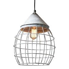 cage light farmhouse large cage light pendant in weathered zinc wire cage light chandelier