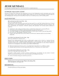 Example Of Resume Summary Statements | Nfcnbarroom.com