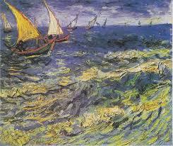 vincent van gogh seascape at saintes maries 2 painting for vincent van gogh seascape at saintes maries 2 is handmade art reion