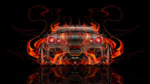 nissan gtr r35 back super abstract car