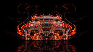 nissan gtr r35 back super abstract car
