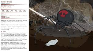 How To Make A Giant Spider Web Dd Basic Monsters Giant Spider