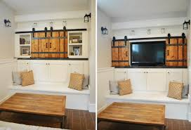 hide tv easy with some sliding barn doors