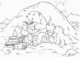 Small Picture Pages Coloring Pages Free Polar Bear Outline With Polar Polar Bear