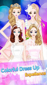 bride princess dresses makeup games free screenshot on ios