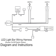 led light bar laser rocker on off switch with relay wiring harness