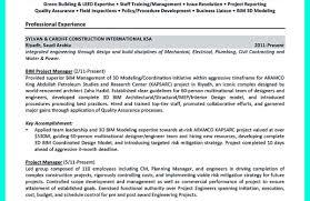 resume : Construction Project Manager Resume Sensational Sample ...