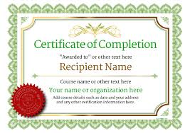sample certificates of completion certificate of completion free quality printable templates download