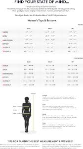 Size Charts Womens Tops And Bottoms Zumbawear Me Com