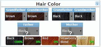 Genetic Chart For Hair Color Www Bedowntowndaytona Com