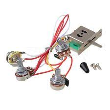 prewired 2 v 2 t 4 500 k pots 3 way switch input jack wiring for guitar wiring harness 1v2t 1jack 3 500k pots 5way switch