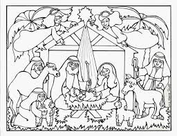 Simple Nativity Coloring Page Printable Coloring Page For Kids