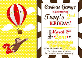 printable curious george birthday invitations alluring layout printable curious george birthday invitations alluring layout