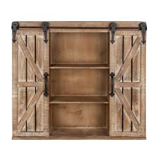 rustic storage cabinets. Kate And Laurel Cates Rustic Wood Wall Storage Cabinet With Sliding Barn Doors Cabinets