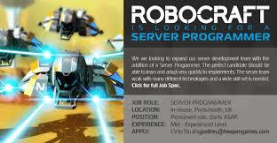 robocraft jobs at jam server programmer job