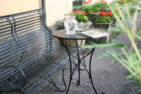 wrought iron garden furniture. Interesting Garden Slatted Top Cafe Table In Black Painted Finish By Ironart Of Bath In Wrought Iron Garden Furniture