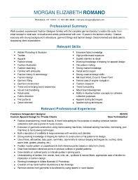 Merchandising Resume Fashion Design And Merchandising Resume 2016 Pdf