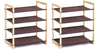 stackable shoe organizer shoe rack 4 tier shoe storage rack closetmaid 55021 3 tier stackable
