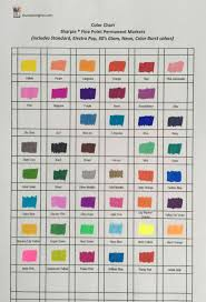 Color Chart For Sharpie Fine Point Permanent Markers The