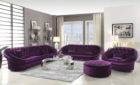 Purple Living Room Furniture Furniture Incredible Purple Tufted Velvet Sofa House Decor