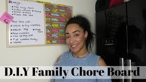 Family Organisation D I Y Chore Board