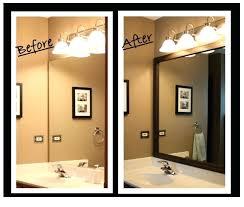 large bathroom mirror frame. Large Bathroom Mirror Frames Nonsensical Frame Custom For Existing Mirrors Bucket Brigade